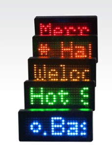 led  mini display LED badge  led tag