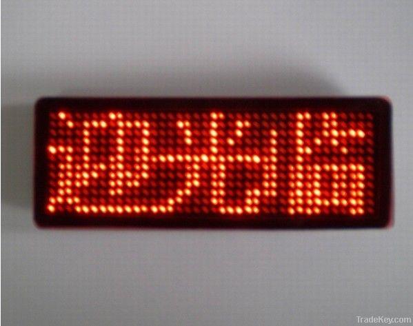 LED name card LED badge  LED tag  LED mini display