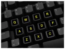 Glowing Keyboard Stickers