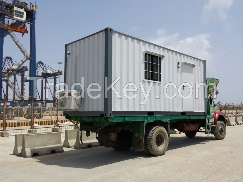 Twenty foot and forty foot container