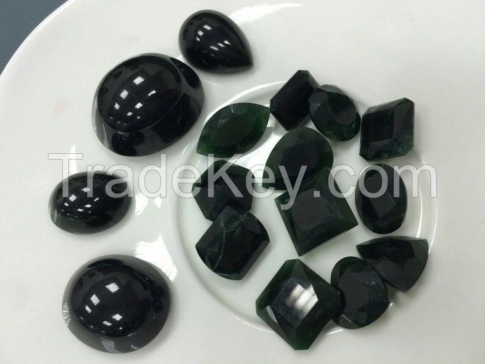 Natural Burma Jadeite, Top grade-A Black diamond series with high transparency