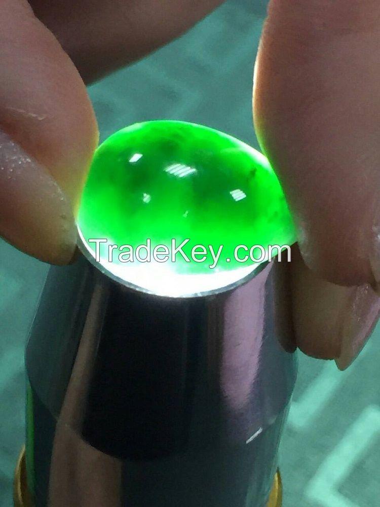 Natural Burma Jadeite (grade-A), Black diamond with high transparency