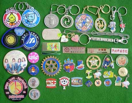 Badges, Lapel Pins, Flag Pins, challenge coins, key chains, charms