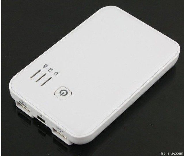 NEW 5000mAh 2 USB output portable charger power bank for iphone ipad i