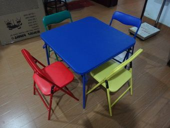 children folding table and chairs set
