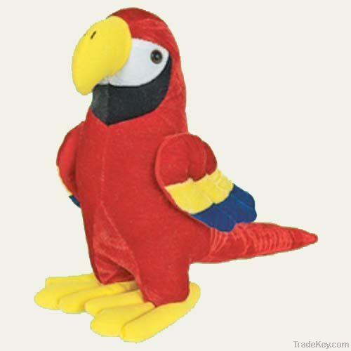 Stuffed parrot toy plush toys
