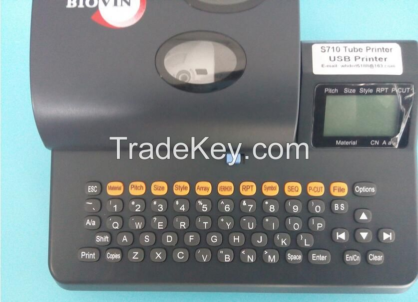 Label Tapes Pvc Tube Heat Shrink Printer+PC Connection,Electronic Lettering Mechine,Cable Identifier Printer S710