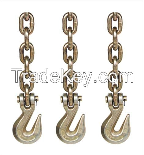 G80 lifting chain with hooks