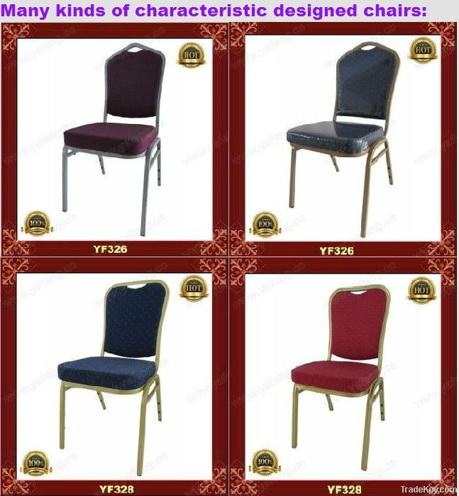 Exquisite gold aluminum Banquet chair YF312
