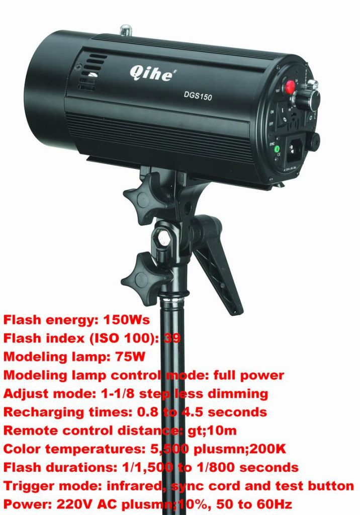180W Studio Flash with Alumnim Housing