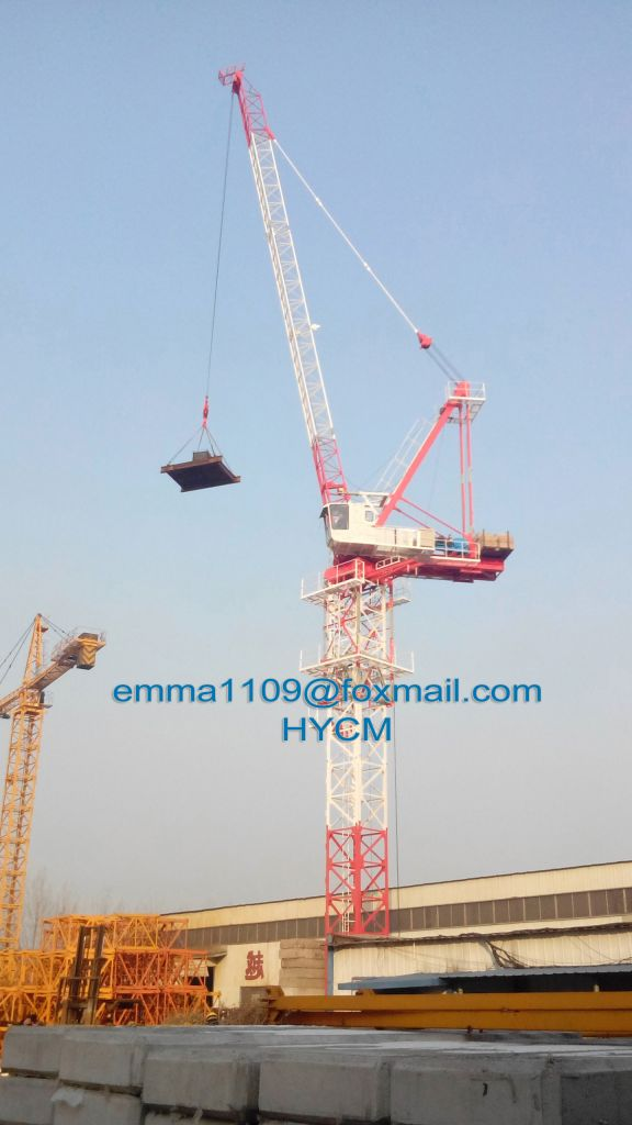 8t D4522 Luffing Tower Crane 45 meters Luffing Jib Factory Price
