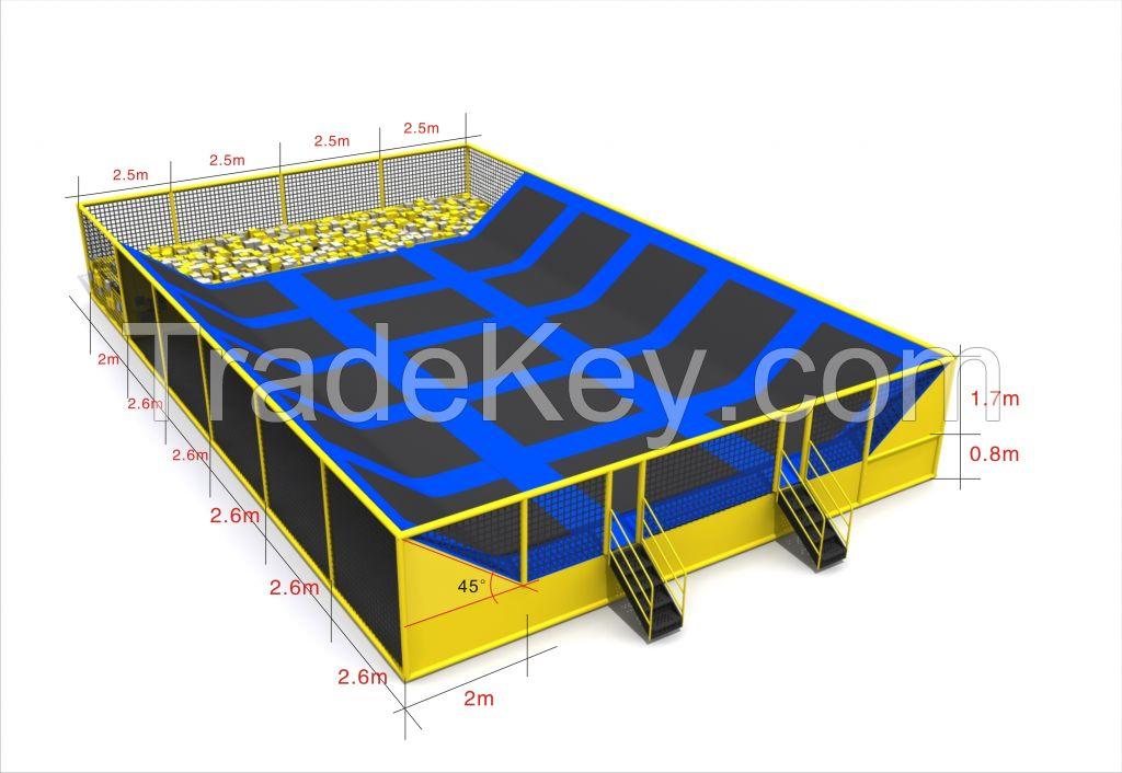 Safety  adult commercial big children indoor trampoline park
