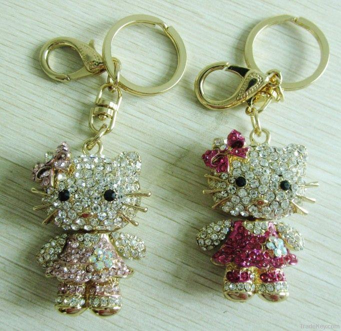 Metal Kitty Keychain