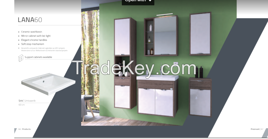 Bathroom cabinets - High-tech design - Lana