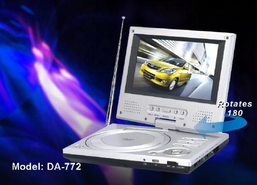 slim portable DVD player