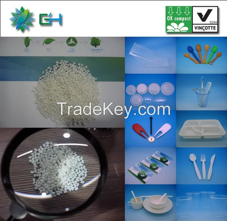 GH401 Virgin biodegradable plastic material PLA pellets for injection molding grade