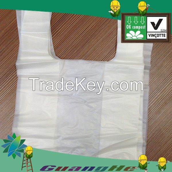 100% biodegradable PLA+PBAT plastic shopping bags, PLA biodegradable  plastic bags