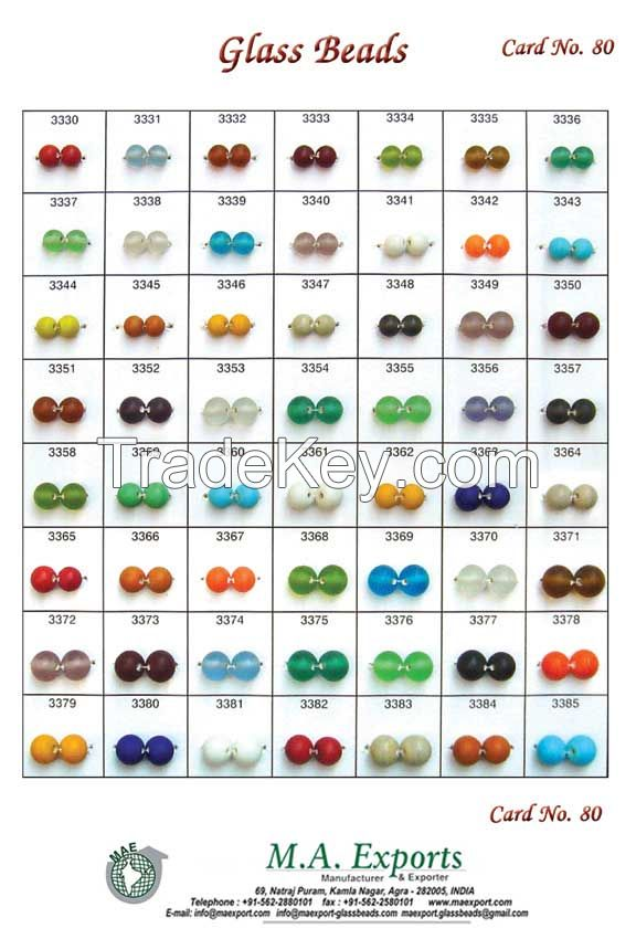 Round small hole Glass beads
