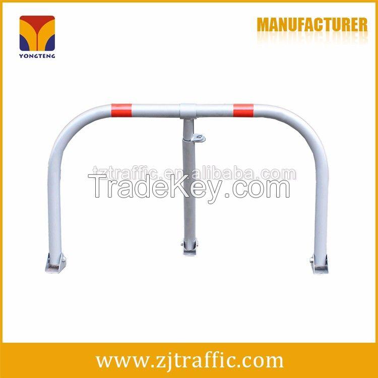 M shape car parking barrier, manual parking lock.