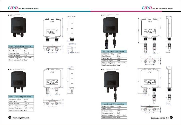 solar pv module junction box series