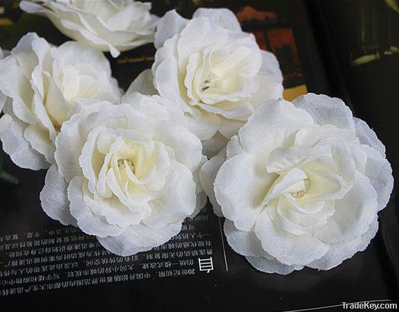 Artificial Silk Flower Heads Rose Peony Camellia Wedding Christmas