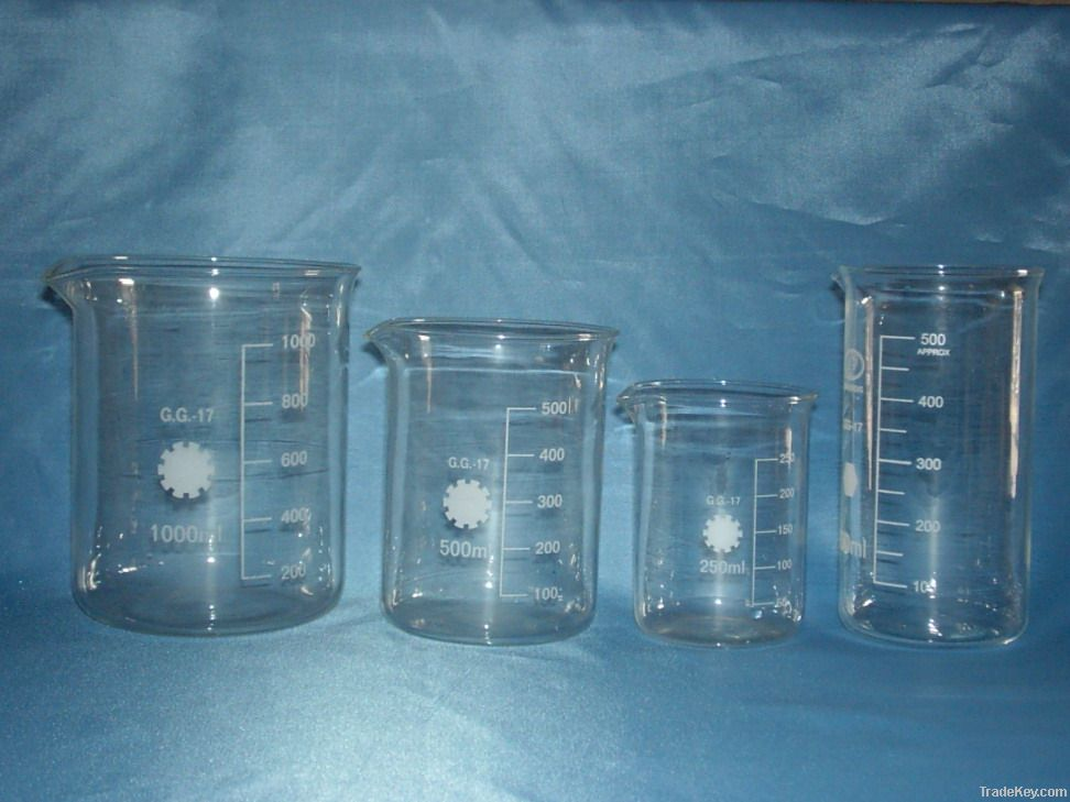Graduation quartz glass beaker