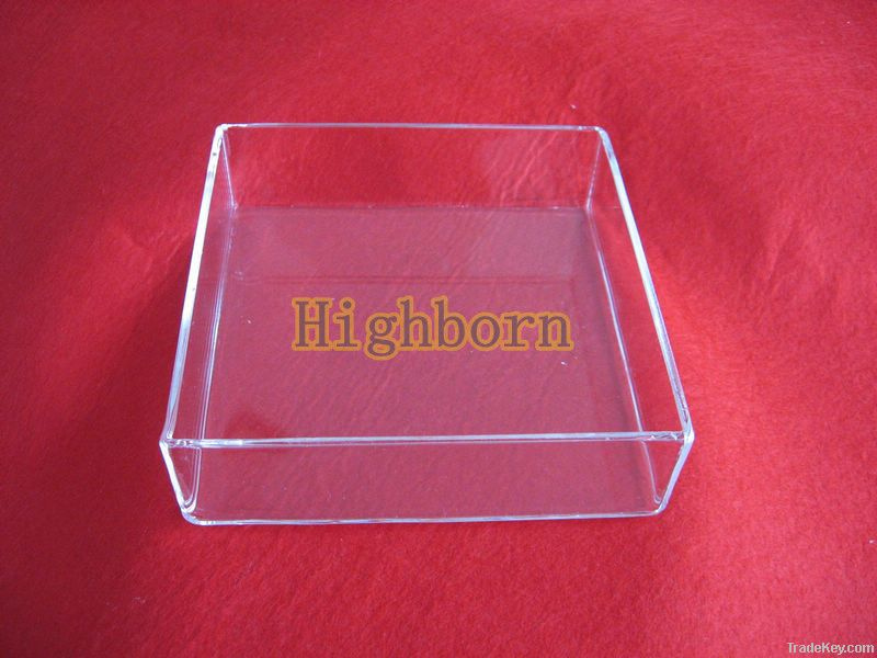 clear quartz glass melting container