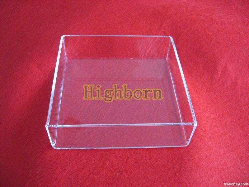 heat resistant clear quartz glass container