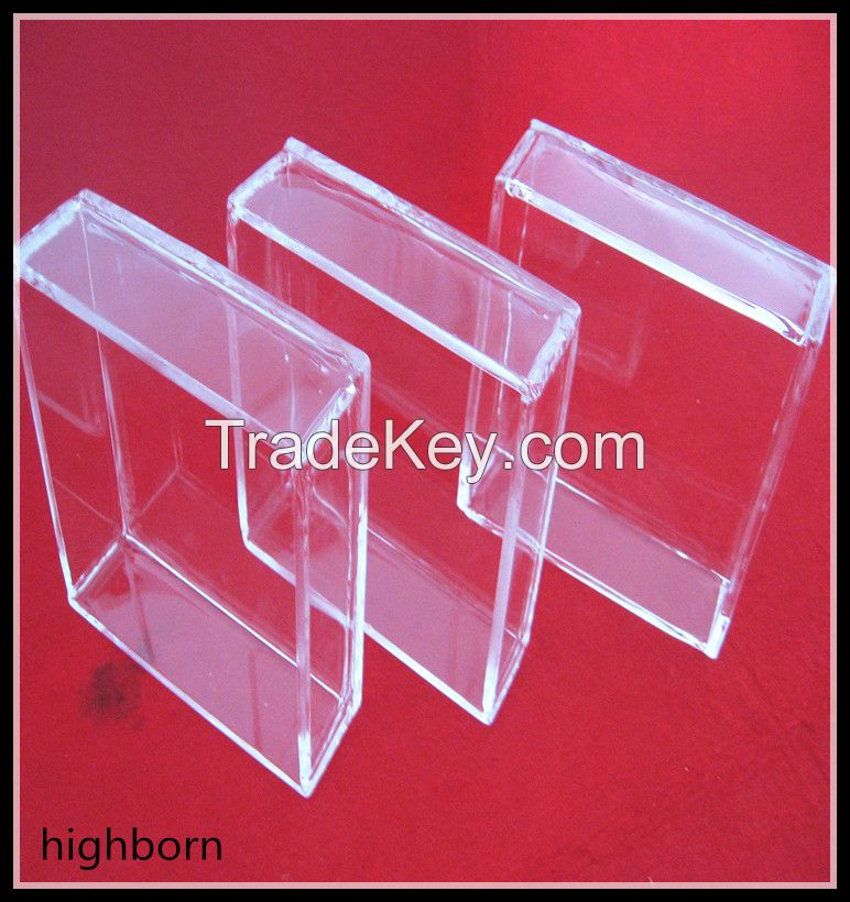 laboratory heating clear quartz glass container
