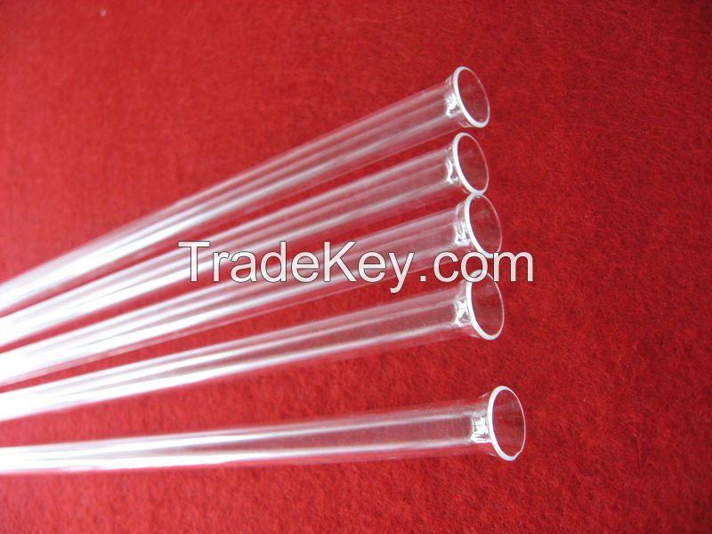 transparent horn mouth transparent quartz joint tubing