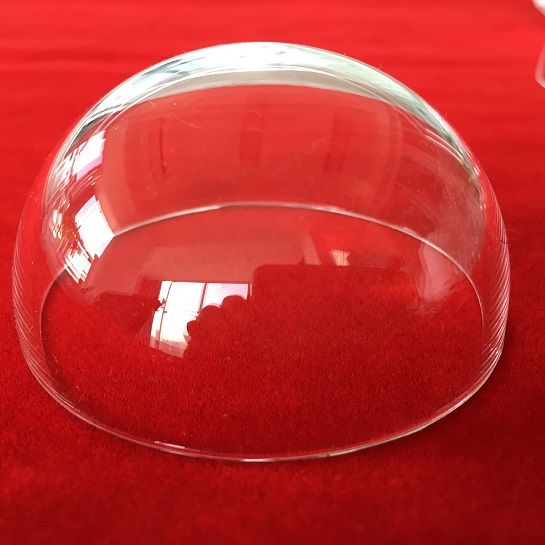 high acid resistence fused quartz glass half ball hollow dome for industry