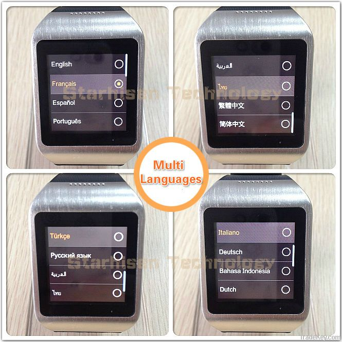 New launched Bluetooth Smart Watch with touch screen SMS/BT call/BT music/Weather/Pedometer/Twitter/Facebook/Speaker