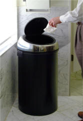 Touchless Trash Containers