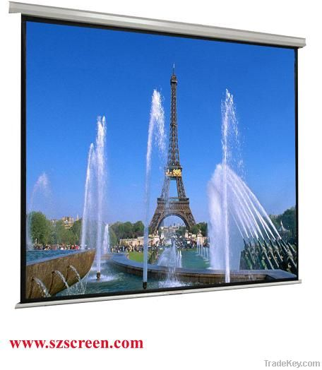 Wall Mount Manual roll down Projection screen (with self-lock device)