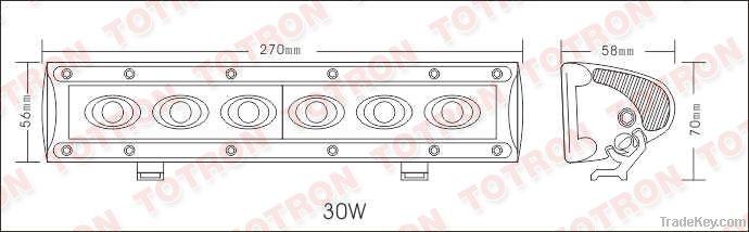 NEW ! 10'' 12V/ 24V 30W LED Offroad light bar for 4x4 accessories