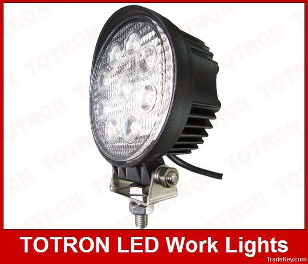 24v 12v 27w Round led work light