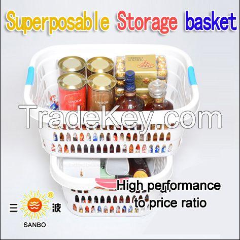 Popular plastic storage basket food basket laundry washing basket A-1