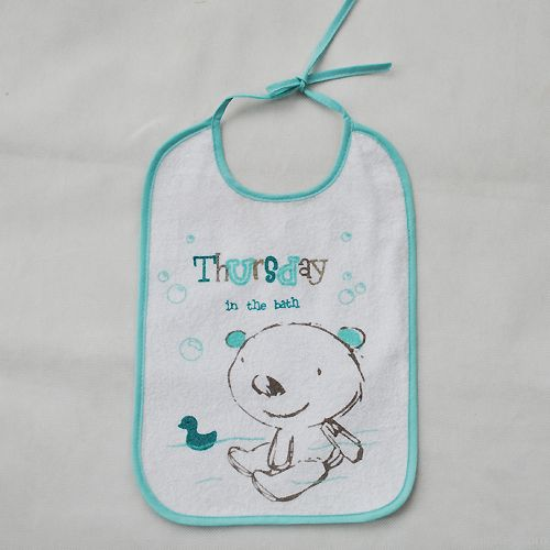 colorful embroidered cute animal baby bibs