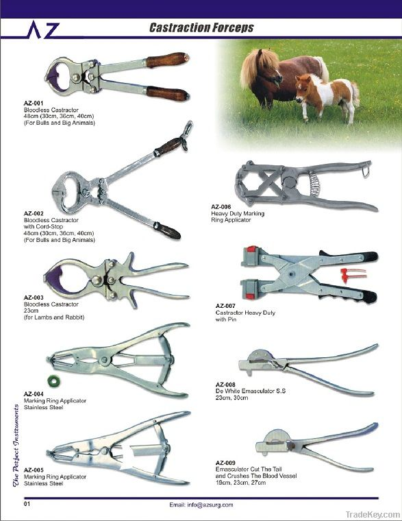 Stainless Veterinary Instruments (Castrator | Orthopedic Instrument | Castration Equipment)