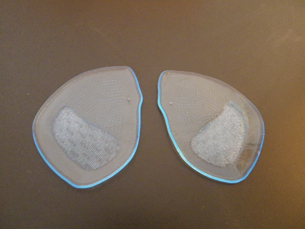 Gel fore foot cushion insoles for ladies