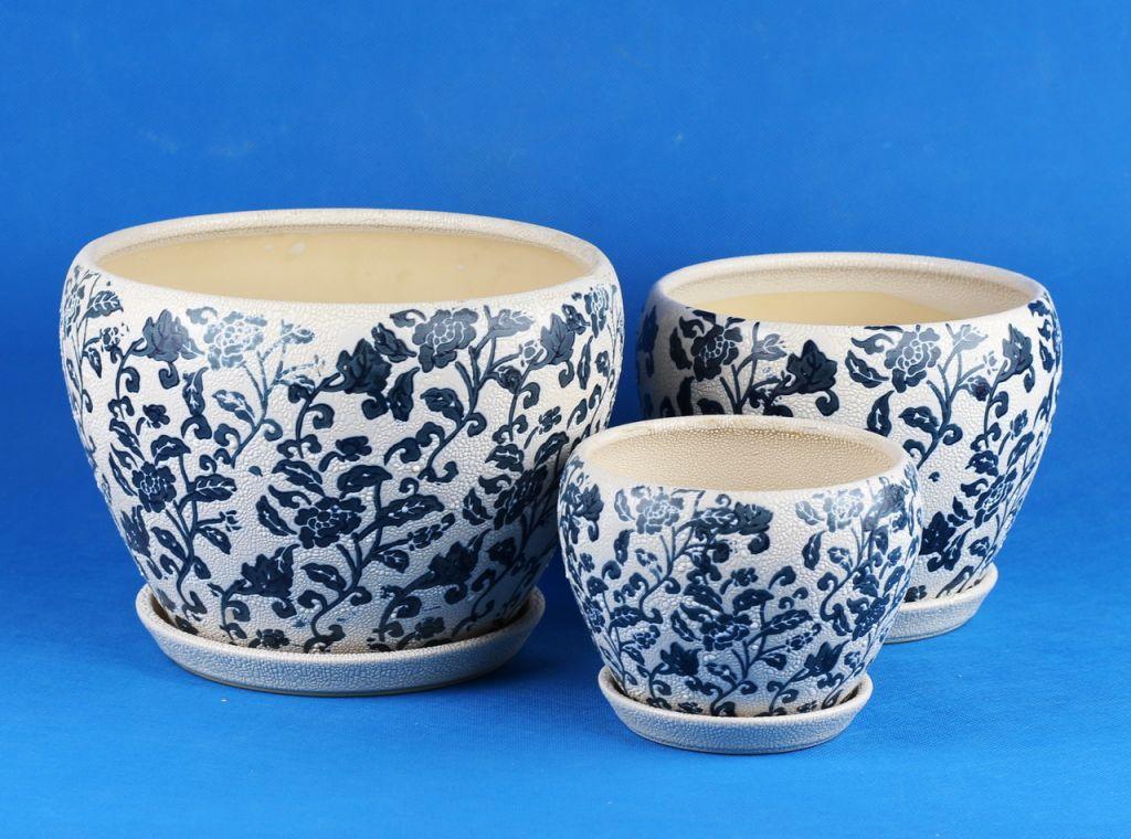 samll ceramic flowerpot pattern of pearl glaze series