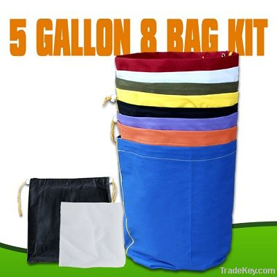 EXTRACTOR herbal 5 GALLON 8 BAG KIT Bubble hash bags