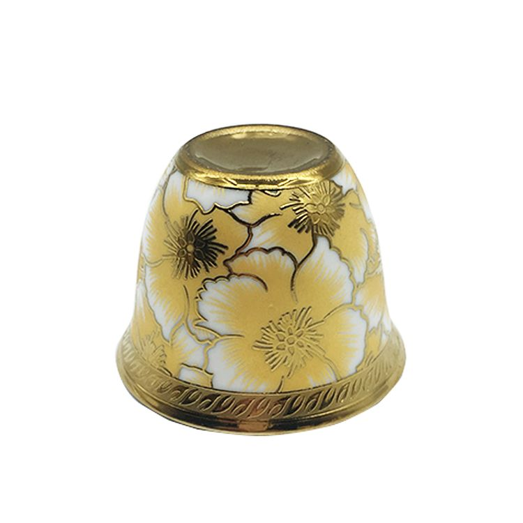 Eletrocplating golden cawa cup arabic small cups
