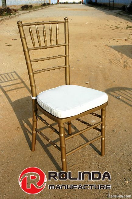 Golden Wooden Stacking Chiavari Chair