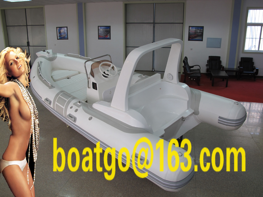 RIB520- rigid inflatable boat grp hull fiberglass hull
