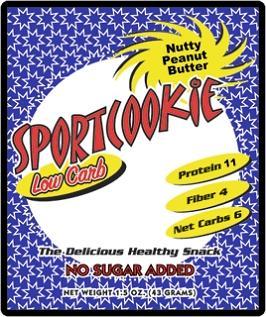 Nutty Peanut Butter Sugar Free Sport cookie