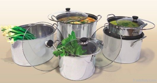 10pcs stainless steel stock pot