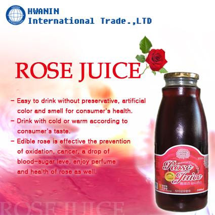 Rose juice beverage