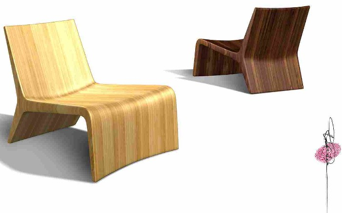 Mojave Solid bamboo Lounge Chair