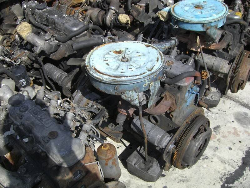 Used Japanese diesel engine and gear box